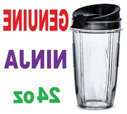 Ninja 24oz Cup +Lid for Blender BL451 BL454 BL456 BL480 BL48