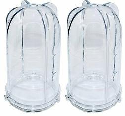 Blendin 2 Pack 16 oz Tall Jar, Compatible with Original Magi