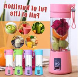 380ml 6 Blades Portable USB Juicer Cup Handheld Rechargeable