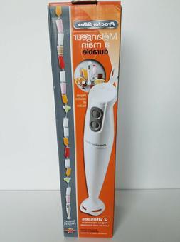 Proctor-Silex 59738A Hand Blender White Stainless Steel Blad