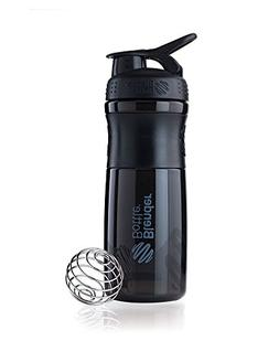 BlenderBottle SportMixer Tritan Grip Shaker Bottle, Black/Bl
