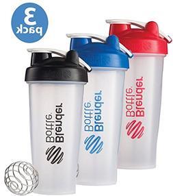 BlenderBottle 3-Pack Water Bottle of 28oz, Blue/Black/Red, 2