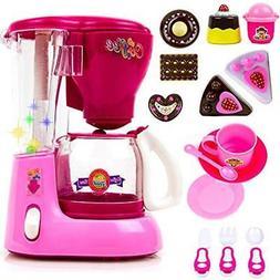 Toysery Coffee Maker Blender Mini Appliances Kitchen Toy Set