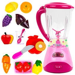 Toysery Electric Realistic Fruit Blender Kitchen Appliance T