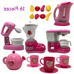 Fun Home 16 pc Mini Kitchen Set | Features Battery Operated