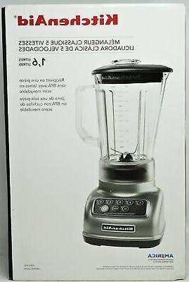 KitchenAid KSB1570SL 5 Speeds Classic Blender - Silver