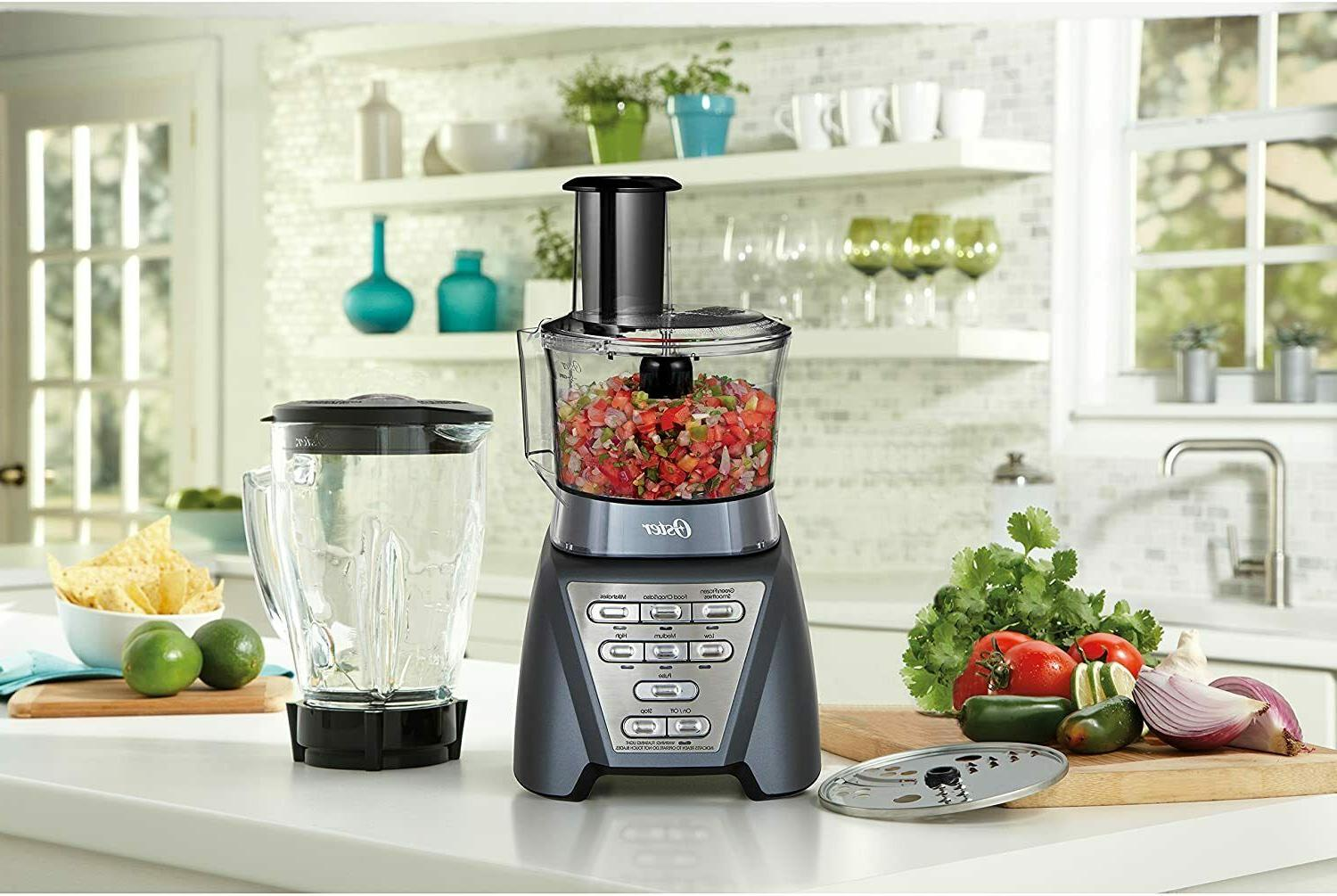 Oster Pro with Jar and Food Processor Metallic