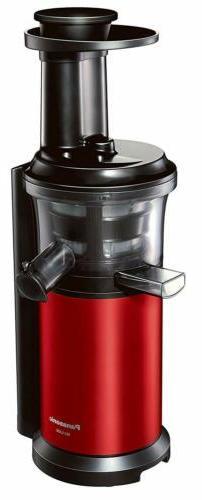 Panasonic Slow Juicer VITAMIN SERVER MJ-L400-R Metallic RedJ