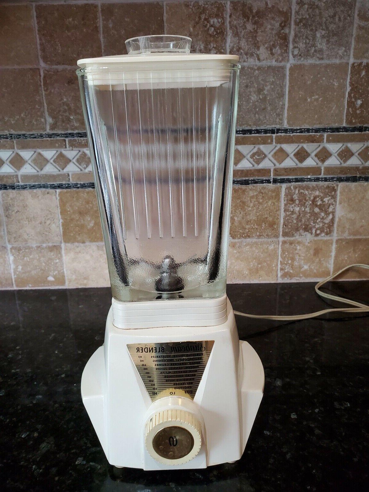 vintage blender bl rectangle glass pitcher jar
