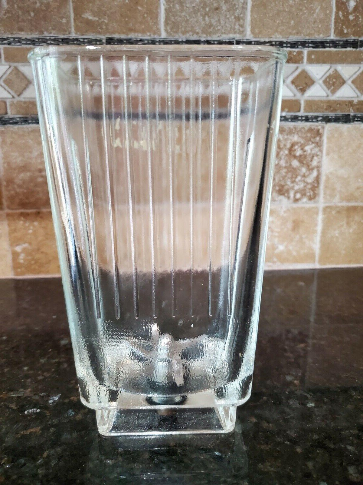 vintage replacement blender bl rectangle glass pitcher