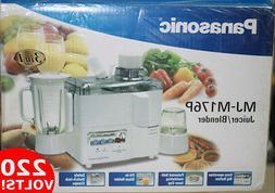 Panasonic MJM-176P 220V 3-In-1 Juicer Blender Grinder 220 Vo