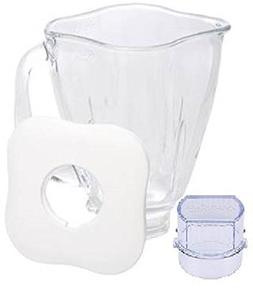 Oster 4096-009 Cube-Shaped Glass Jar- 5 Cup- White Lid