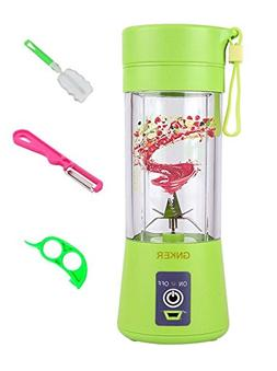 Portable Juicer with Travel Sport Bottle Electric Fruit Blen