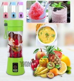 USB Rechargeable Juicer Mixer Cup Portable 380ml Smoothies F