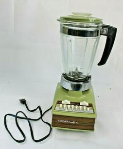 Vintage Sunbeam 16 Speed Solid State Avacado Green Blender T