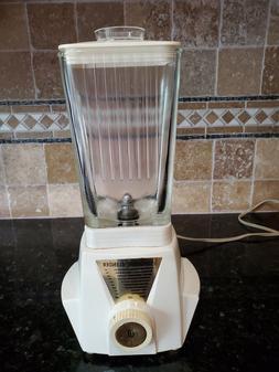 Vintage Sunbeam Blender BL Rectangle Glass Pitcher Jar with